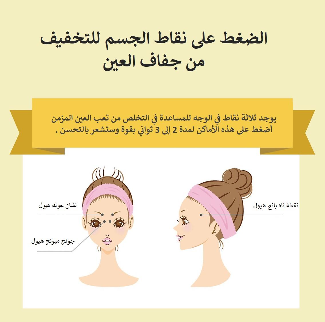 الضغط على نقاط الجسم للتخفيف من جفاف العين